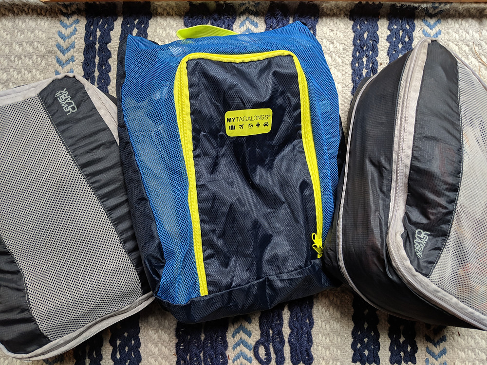 We use packing cubes every time we travel.