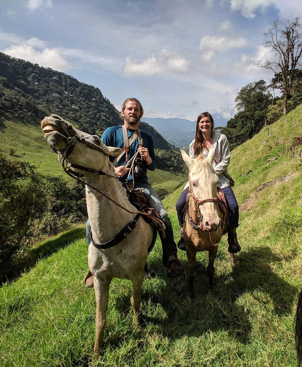 Horseback riding in Jardin, Colombia.