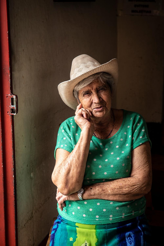 A lady in her cowboy hat in Jardin, Colombia.