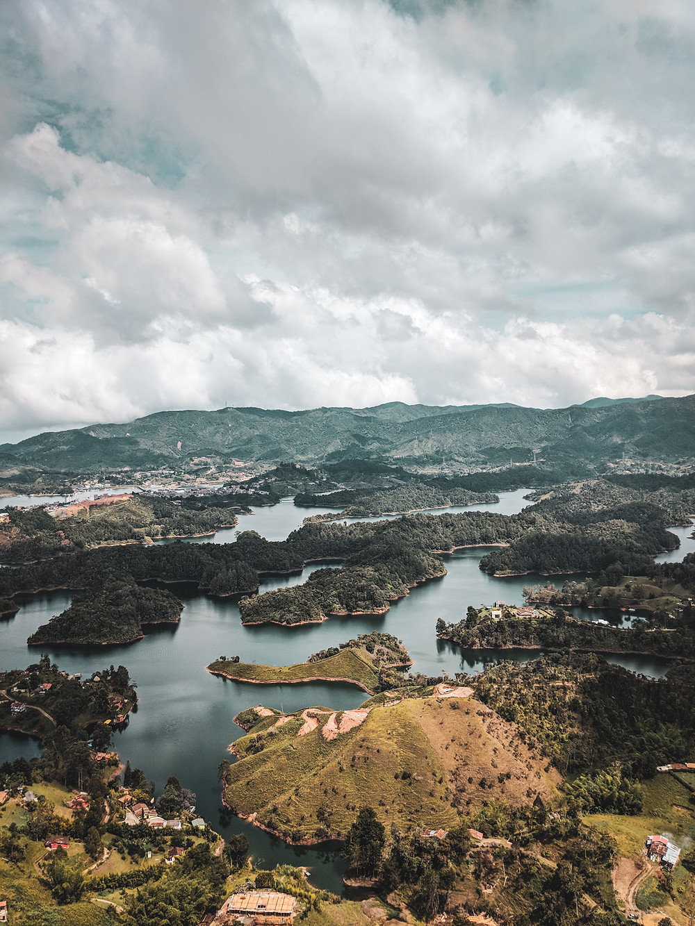 View from the top of El Peñón near Guatapé, Colombia.