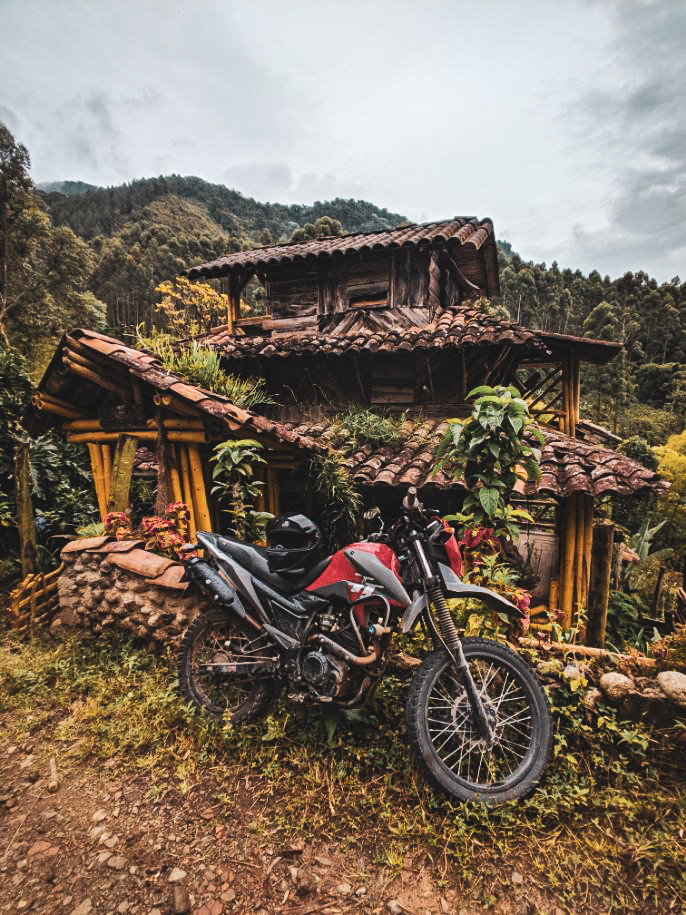 Renting a motorbike in the mountains of Jardin, Colombia.