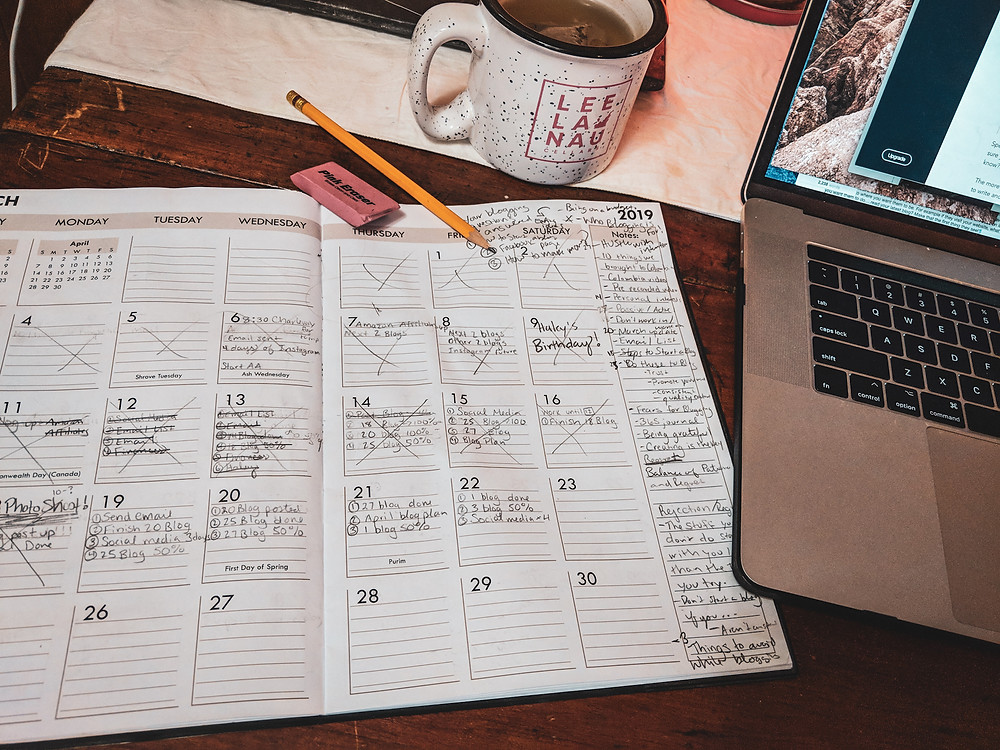 Being consistent and creating a content calendar can really help when starting a blog.