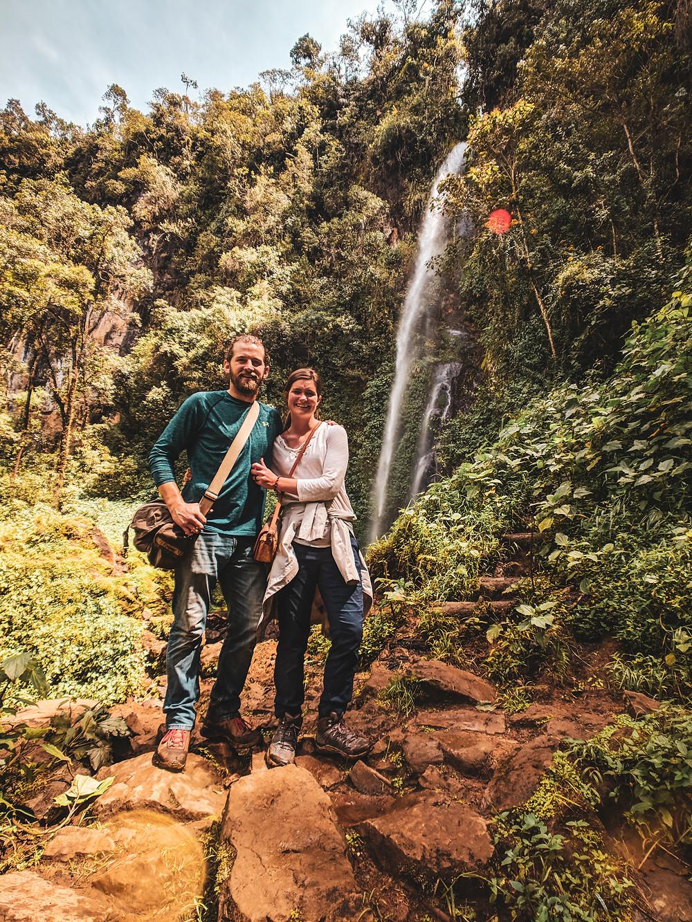 Exploring waterfalls in Jardin, Colombia.