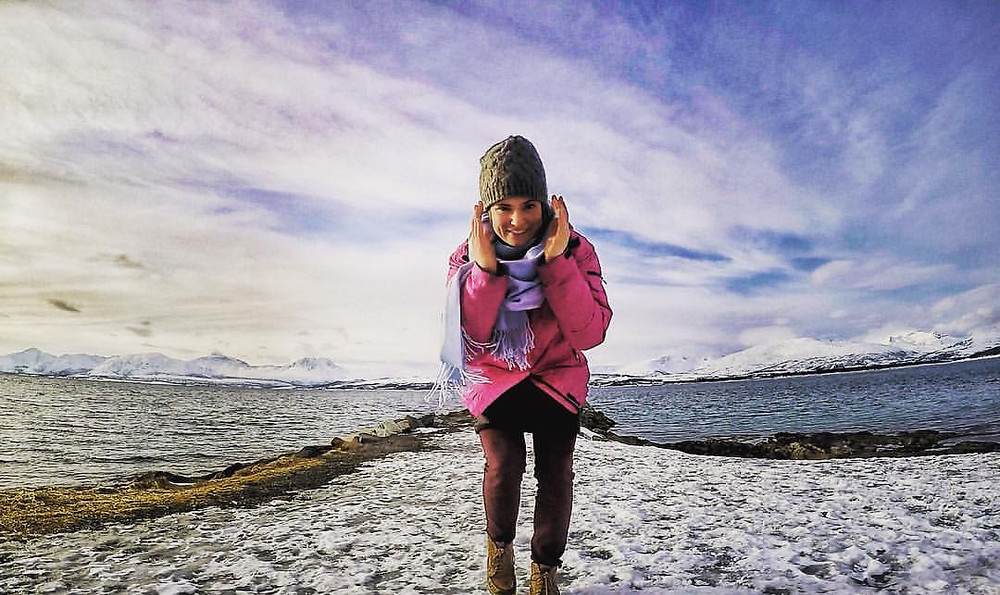 Steph in the beautiful Tromso, Norway.