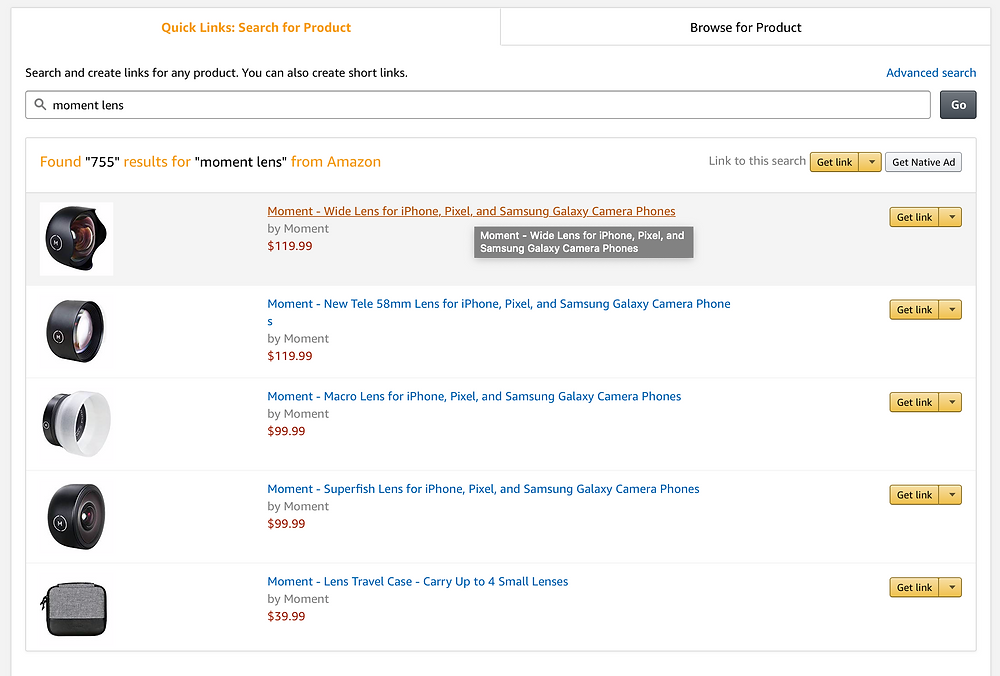 How to choose a product to link using Amazon Affiliates in the Amazon Associates program.