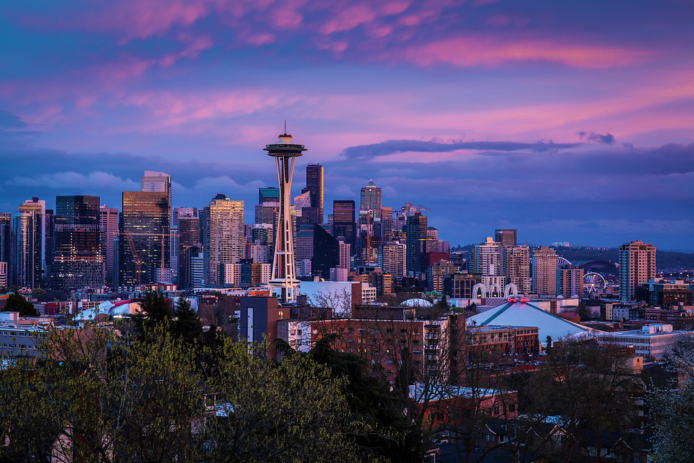 View of Seattle, Washington from Kerry Park during our road trip to the PNW.