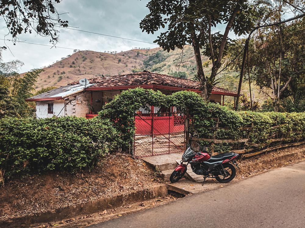 A Finca on top of a mountain in Colombia.