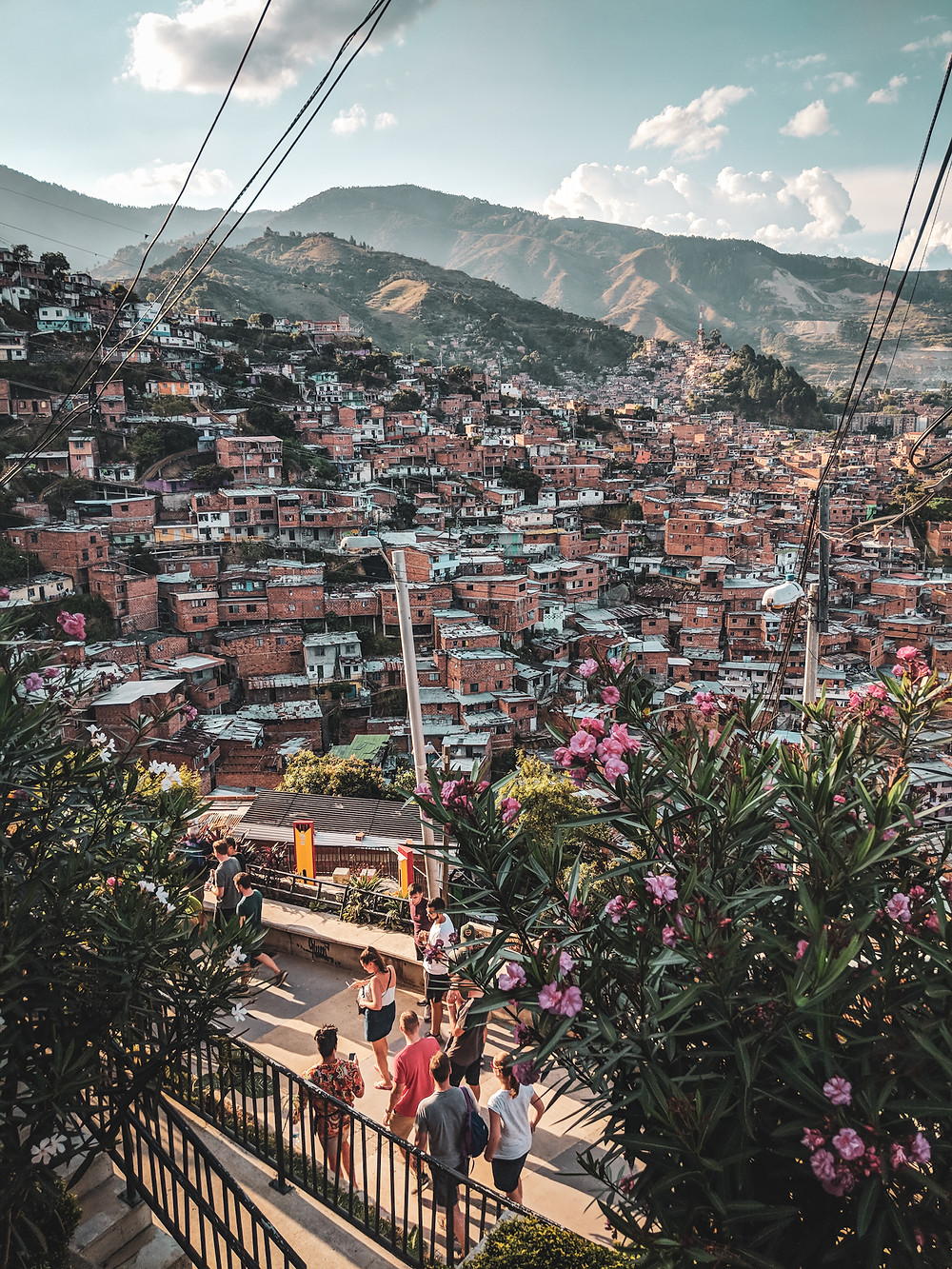 Overlooking Medellín, Colombia from a viewpoint in Comuna 13.