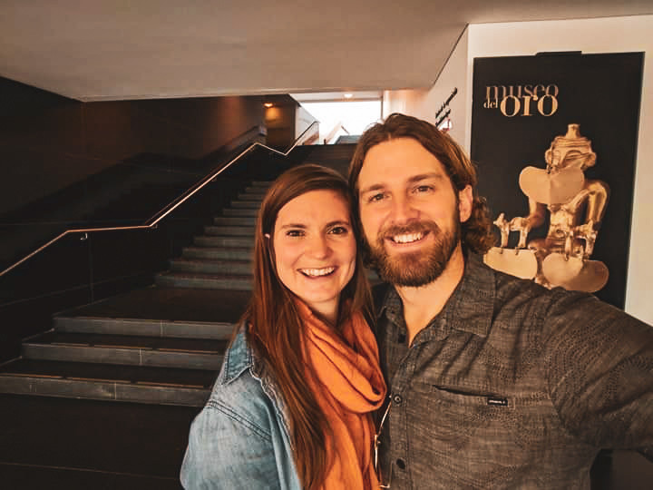 Scott and Steph at El Museo de Oro, The Museum of Gold in Bogota, Colombia.