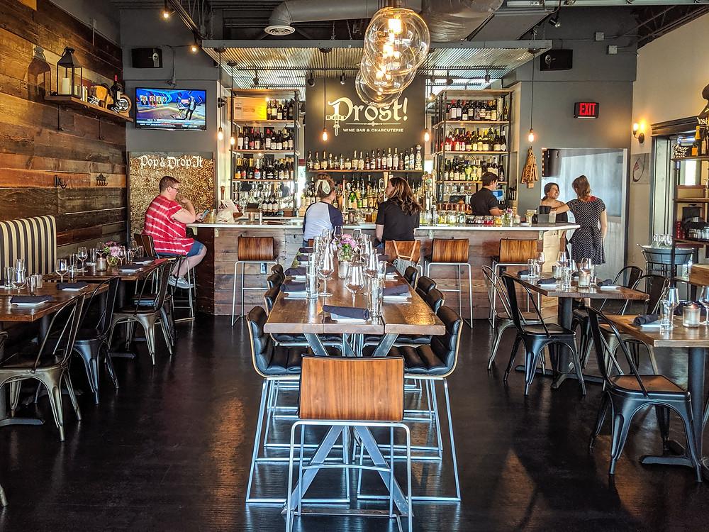 Prost Wine Bar & Charcuterie in Frankenmuth, Michigan.