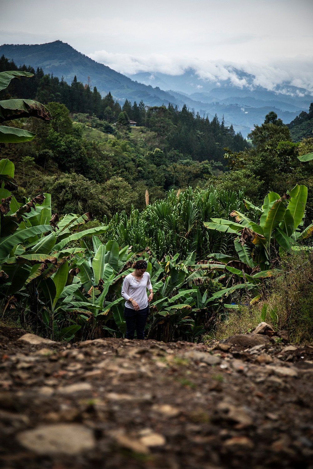 Hiking in the mountains of Jardin, Colombia.