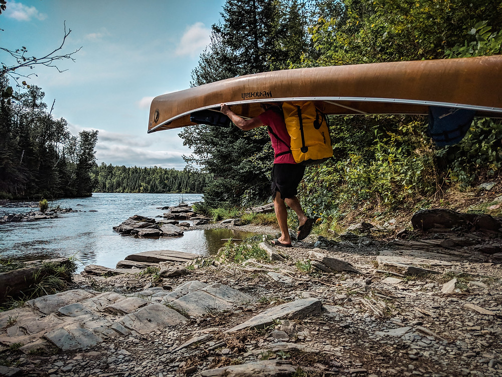 I didn't know you had to portage when you traveled in the Boundary Waters.