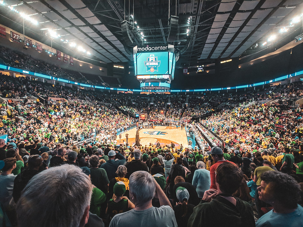 Attending the NCAA women's basketball tournament in Portland in the PNW.