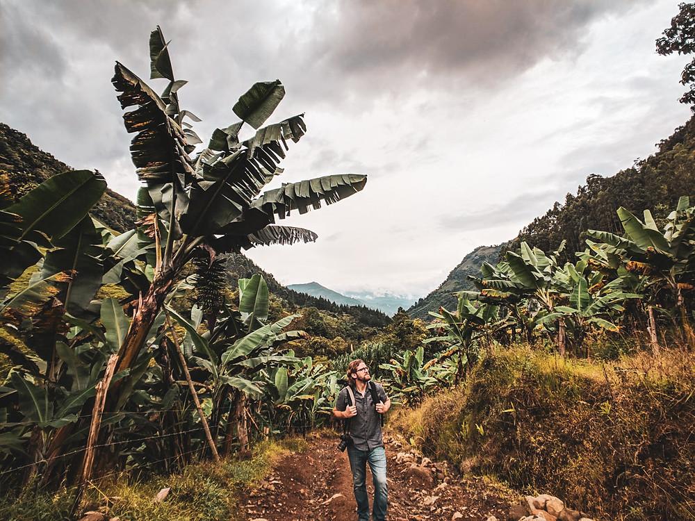 Hiking in Jardin, Colombia.