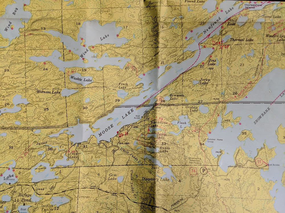 Map of the Boundary Waters for our quick guide.