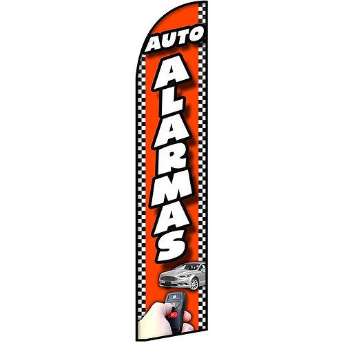 AUTO ALARMAS Feather Flag