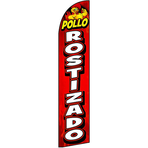 POLLO ROSTIZADO Feather Flag