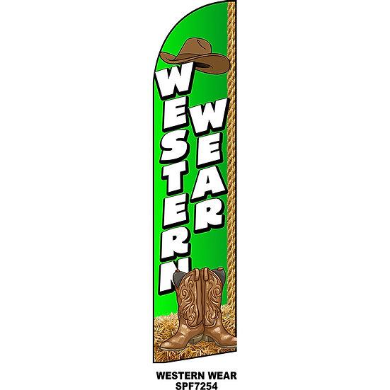 WESTERN WEAR Feather Flag