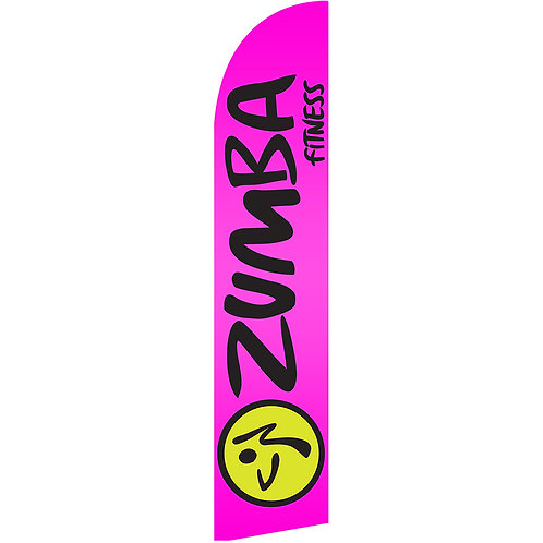 ZUMBA PINK Feather Flag