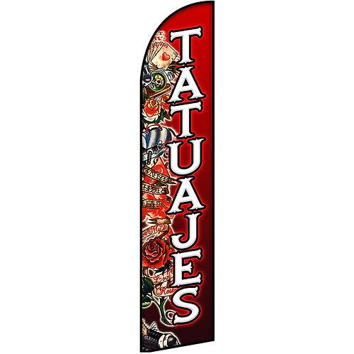 TATUAJES Feather Flag