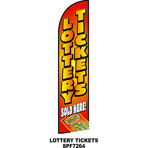 LOTTERY TICKETS Feather Flag