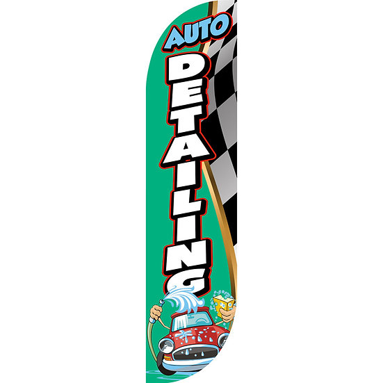 AUTO DETAILING Feather Flag