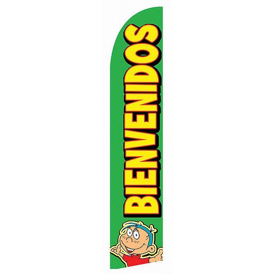 BIENVENIDOS GREEN Feather Flag