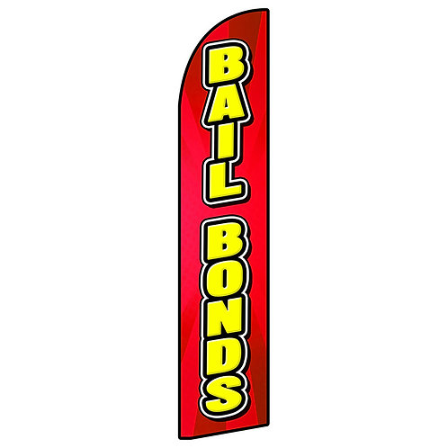 BAIL BONDS Feather Flag