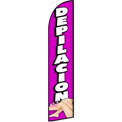 DEPILACION Feather Flag