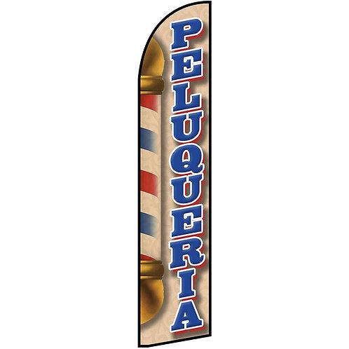PELUQUERIA Feather Flag