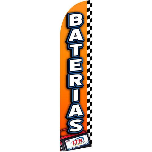 BATERIAS Feather Flag