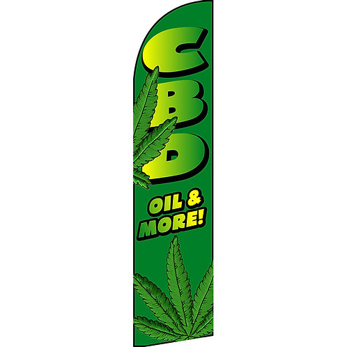 CBD OIL & MORE Feather Flag