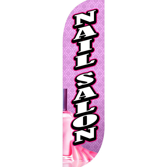 NAIL SALON Feather Flag