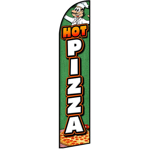 HOT PIZZA Feather Flag