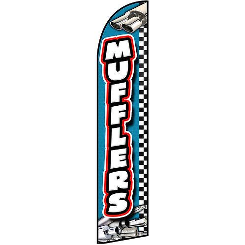 MUFFLERS Feather Flag