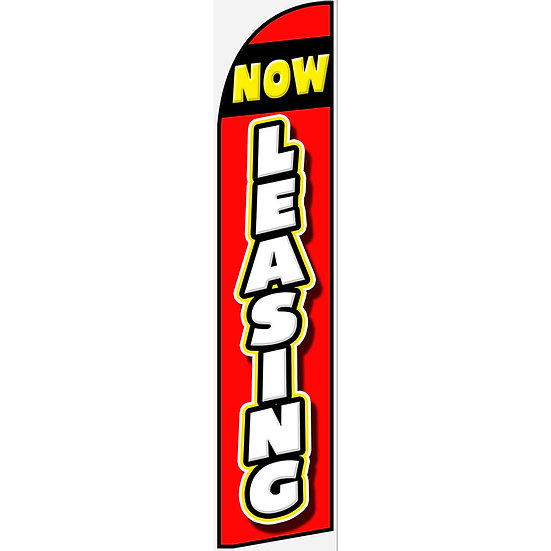 NOW LEASING Feather Flag