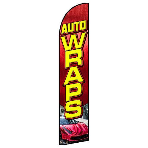 AUTO WRAPS Feather Flag