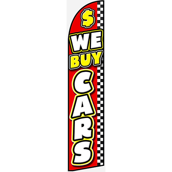 WE BUY CARS Feather Flag