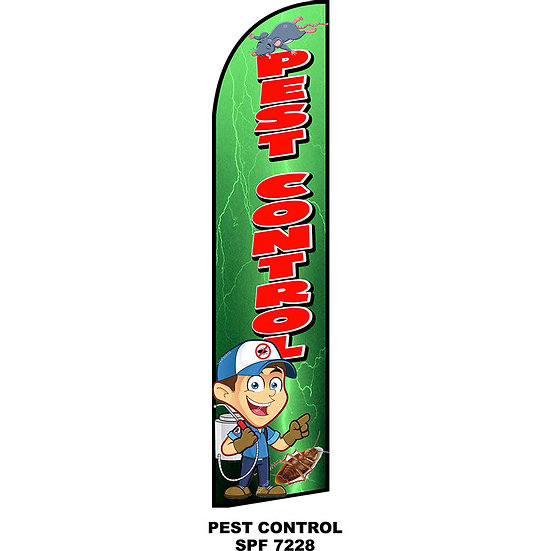 PEST CONTROL Feather Flag