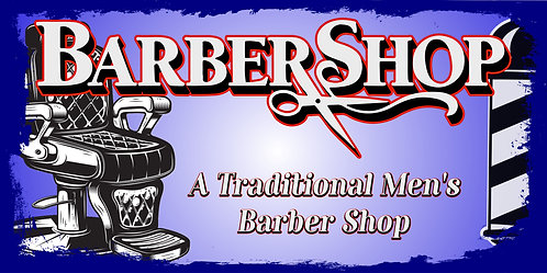 BARBER SHOP 3x5 Banner Flag