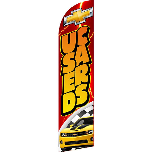 USED CARS CHEVY RED Feather Flag