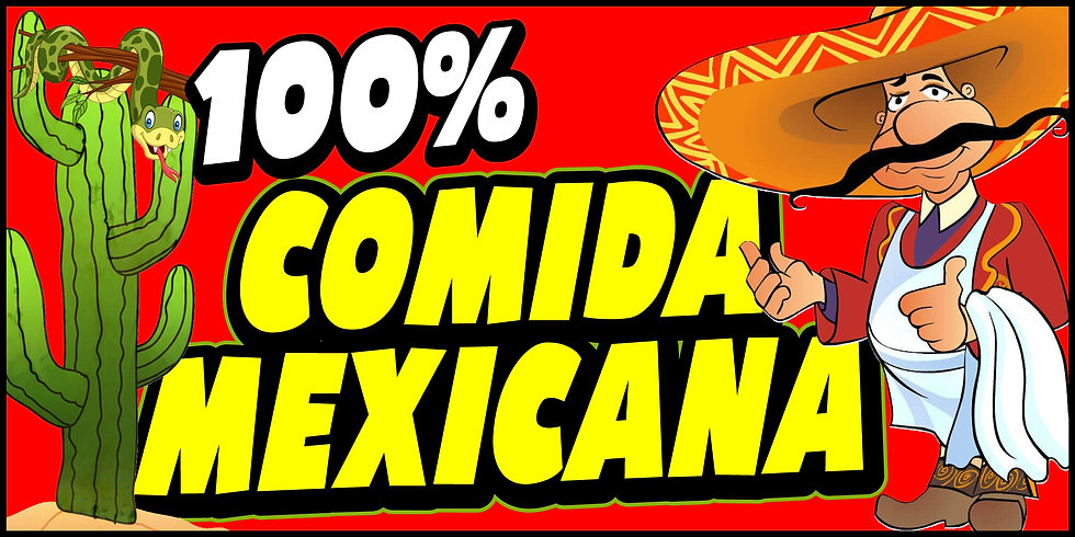 100% COMIDA MEXICANA 3x5 Banner Flag
