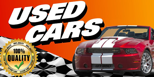 USED CARS 3x5 Banner Flag