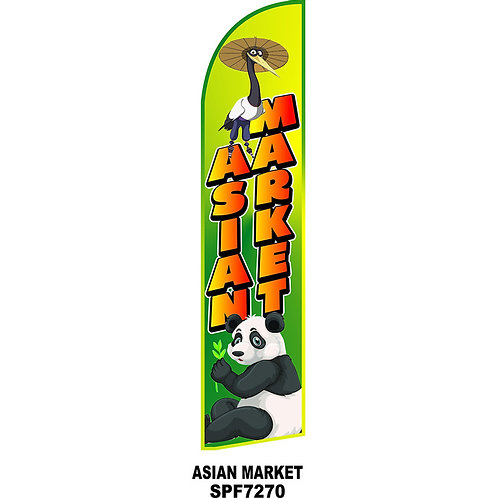 ASIAN MARKET Feather Flag
