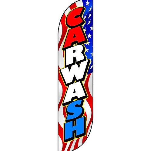 CAR WASH USA Feather Flag