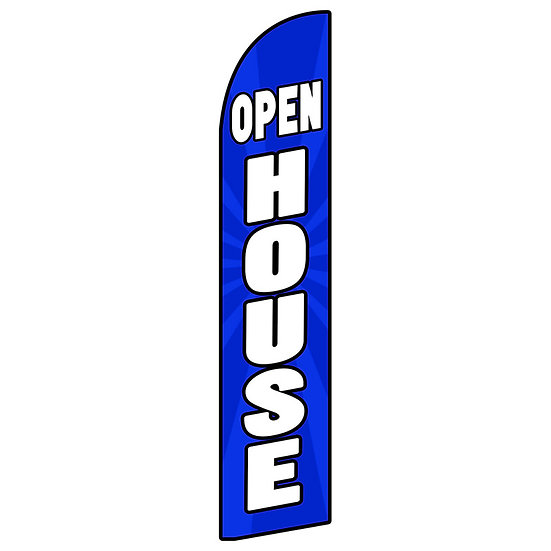 OPEN HOUSE BLUE Feather Flag