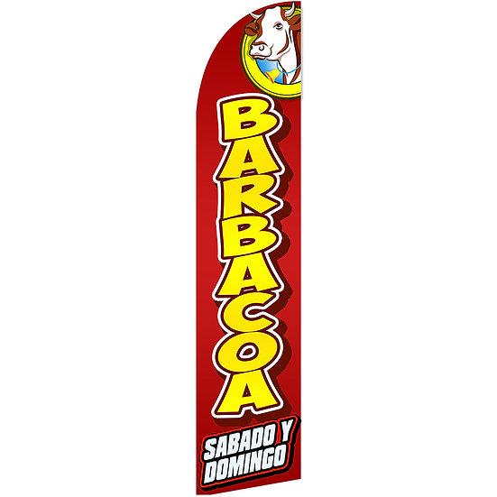 BARBACOA SAB Y DOM Feather Flag