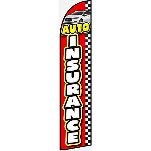 AUTO INSURANCE Feather Flag