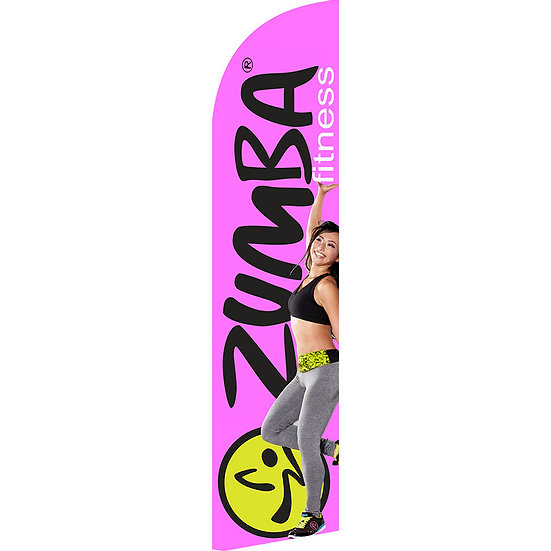ZUMBA FITNESS Feather Flag