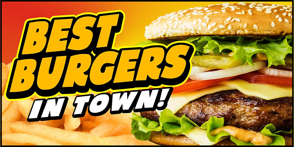BEST BURGERS IN TOWN 3x5 Flag Banner